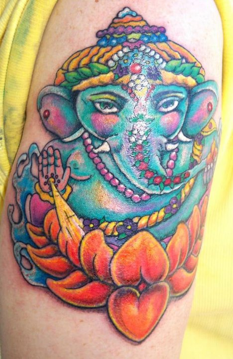 Dr rex spiritual ganesh tattoo stacy depaola ocala florida for Tattoo shops in ocala