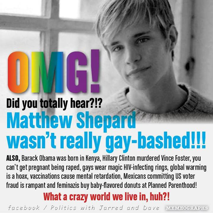 Remember? Matthew Shepard ….. Never forget! | It Is What It Is