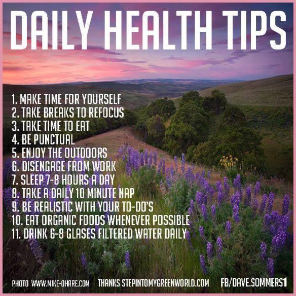 MEDICAL CORNER Daily Health Tips