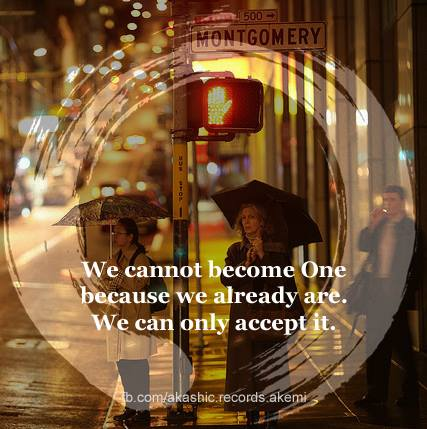 We ALL are one ........