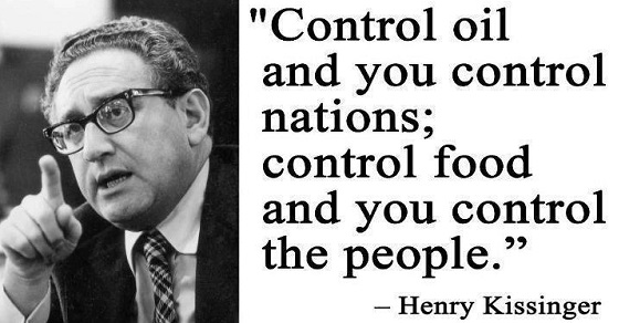 Image result for control the food supply and you control the people