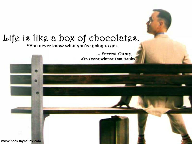 gumps musical box of chocolates essay Forrest gump - life is like a box of chocolate according to some sources: life was like a box of chocolates you never know what you're gonna get.