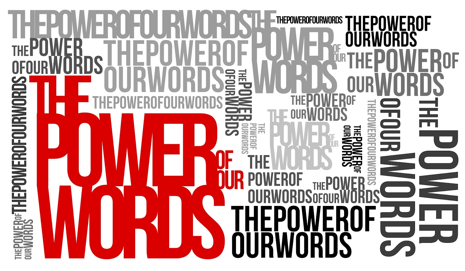 """is it power of words which The power of words is fundamental to life when god speaks, """"it is so"""" the bible says that no word that you or i speak is without significance."""