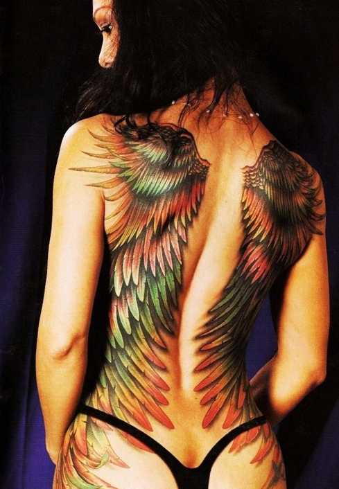 Angel Wing Tattoos On Back For Girls It Is What It Is