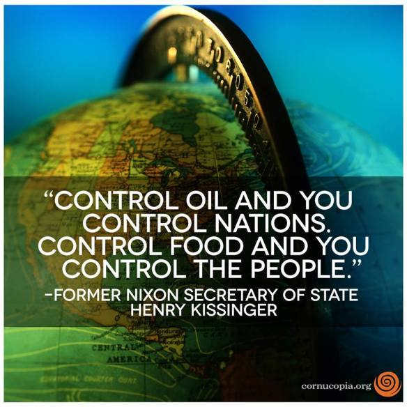 Control Food and you control people