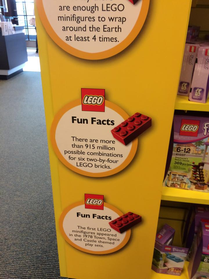 LEGO man at our local Barnes and Nobles book store~~