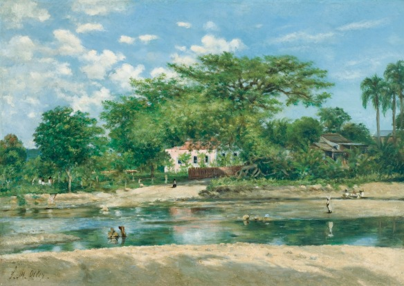 La ceiba de Ponce by Francisco Oller