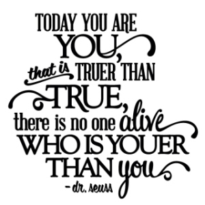 Today You Are You - Dr. Suess - Thumbnail