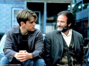 Oscar winner: Robin Williams took home the Academy Award for Best Supporting Actor in 1997 for his role alongside Matt Damon in Good Will Hunting.