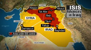 ISIS Control in Iraq and Syria 6/16/2014