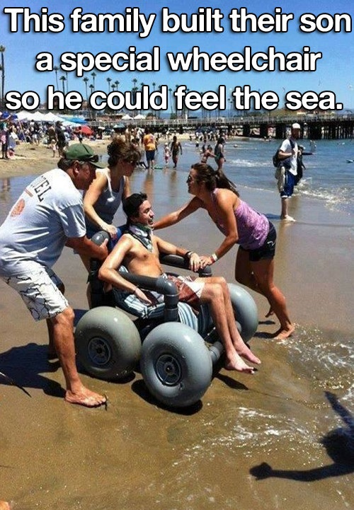 A Special Wheelchair for the Sea