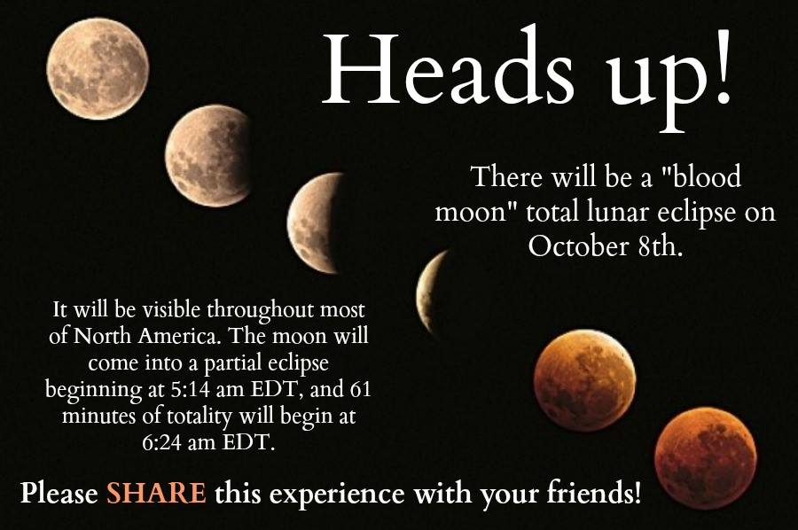 Quotes About The Eclipse: Total Lunar Eclipse …. October 8, 2014!!