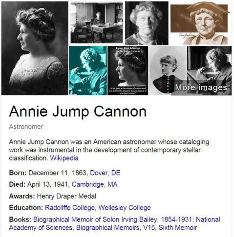 annie jump cannon essay