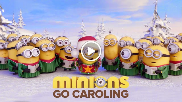 Funny Minion Merry Christmas Wallpapers Sayings: To Start The Day ….. Minions Go Caroling!!