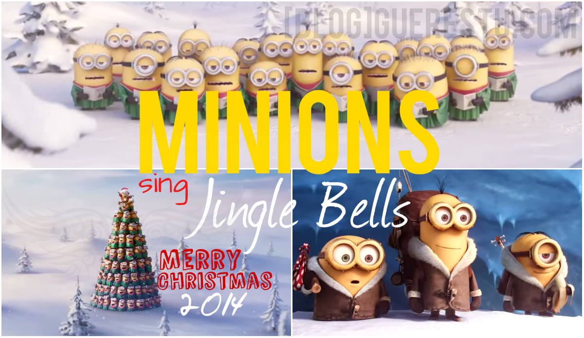 minions singing jingle bell - Merry Christmas Minions