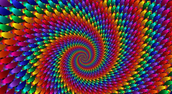 multicolor-rainbows-spiral-fractal by HDscreen