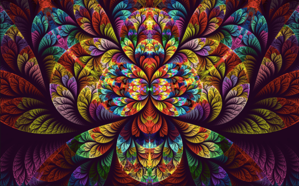 rainbow fractal by Wolfpaw/peggi