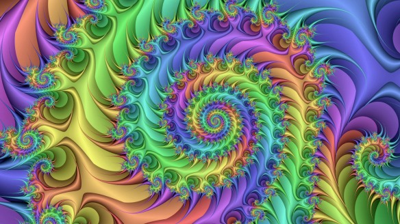 Trippy rainbow fractal by dhwallhd
