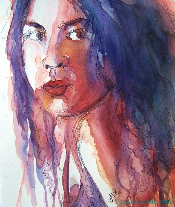 watercolor-selfportrait-the real message of love