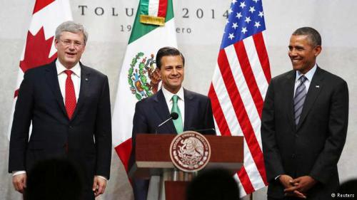 Mexican President Enrique Pena Nieto and Canadian PM Stephen Harper on Trade