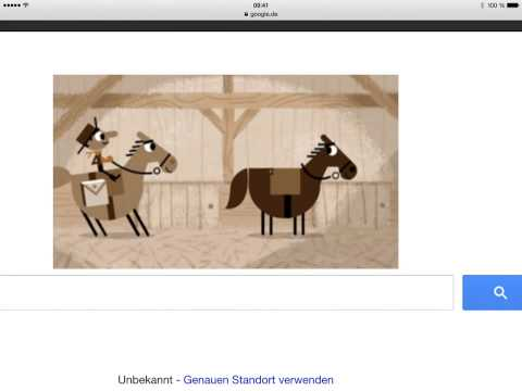 "Google Doodle for today …  ""155th Anniversary of the Pony"