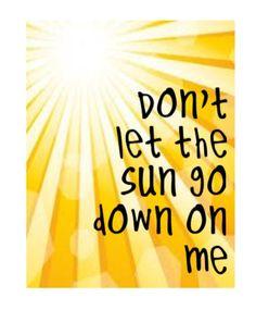don t let the sun go down on me lyrics