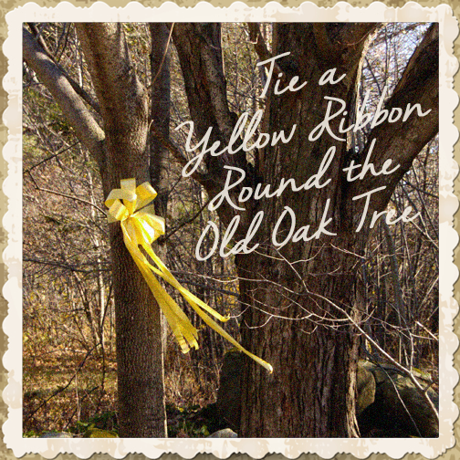 at the end of the day tie a yellow ribbon the