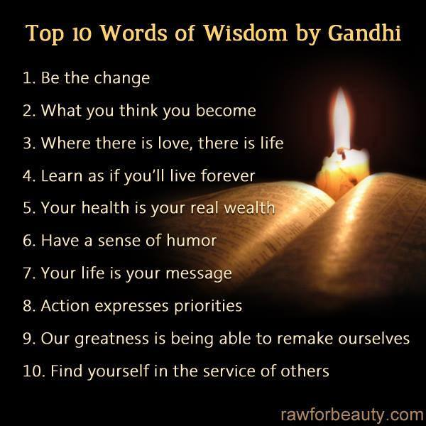 "Thoughts for today, #174 …. ""Gandhi's Words of Wisdom ..."