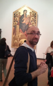 Angelo as our Walks of Italy tour guide at the Uffizi Gallery.