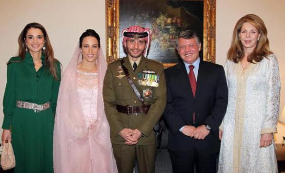 ON THE RIGHT IS KING ABDULLAH II, SON OF KING HUSSEIN WITH KING HUSSEIN'S WIDOW, QUEEN NOOR
