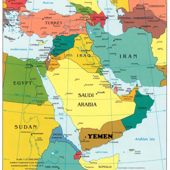Map Ancient Middle East Scale