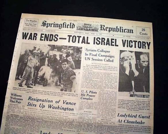 End of 6 Day War news