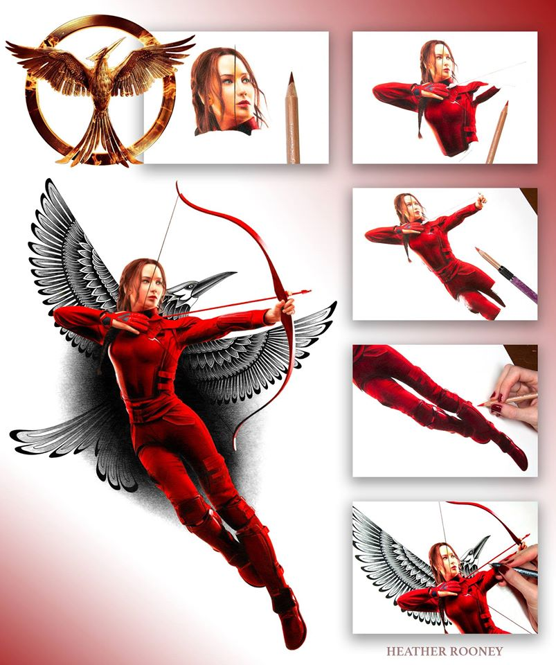"""To Start The Day …. """"Drawing Katniss"""