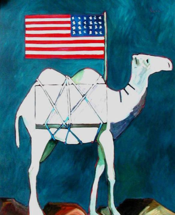 Thom_Ross_The_Lead_Camel_with_Flag_Flaming_Cliffs_1235_53