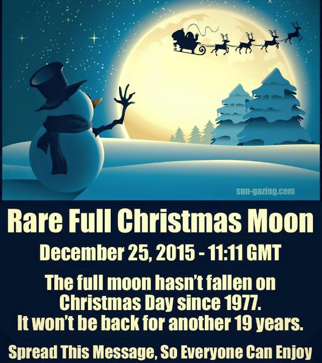 "Full Cold Moon …. ""December 25, 2015 …. Christmas Day""!! 