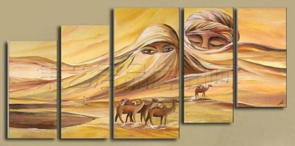 ISIS hand-painted-modern-Wall-home-decor-Canvas-oil-painting-2013-new-font-b-Beautiful-b-font
