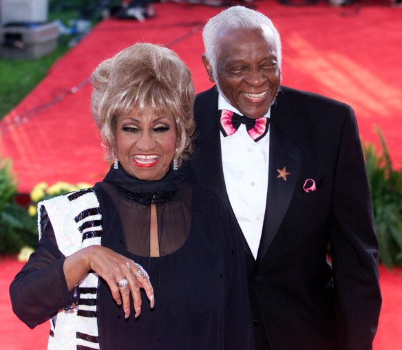 CELIA CRUZ AND HUSBAND PEDRO KNIGHT.