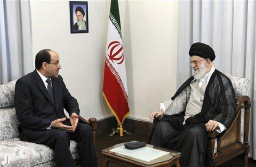 PM Nouri al-Maliki and Ali Khamenei of Iran