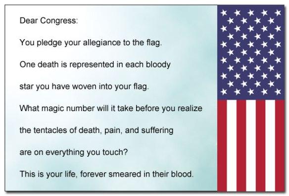 Congress's bloody hands.