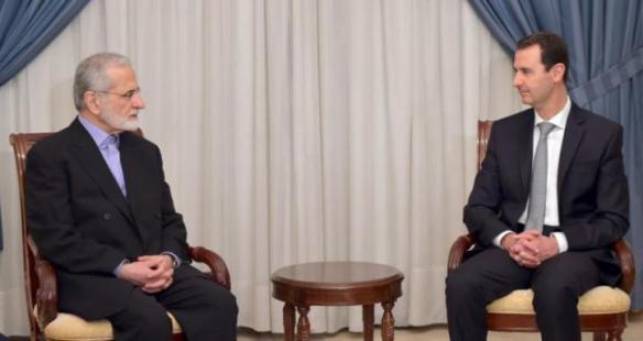 Syria's President Bashar al-Assad on right ,Picture taken March 19, 2016. REUTERS/SANA/Handout via Reuters