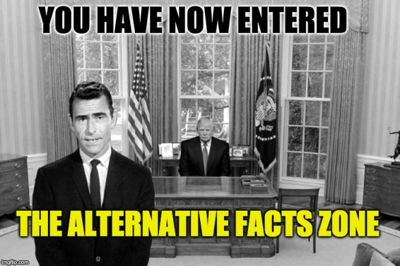 Image result for cartoons of trumps alt facts