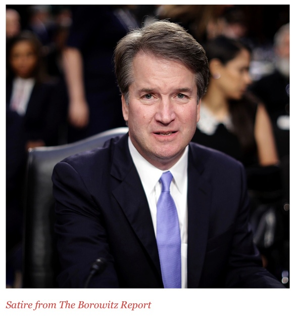 "Borowitz Report …  ""🇺🇸⚖️ There's a Setback for Kavanaugh"