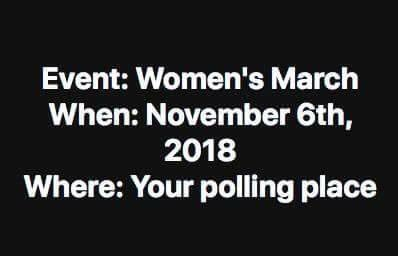 Women's March to the Voting Booth November 6th, 2018